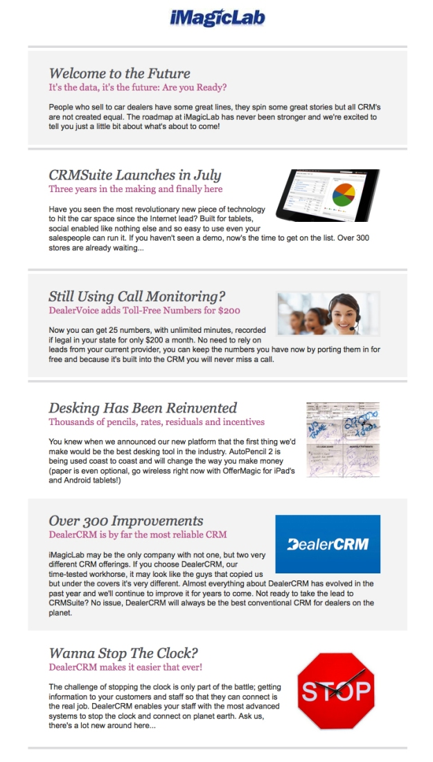 iMagicLab Update Newsletter: CRMSuite is Here!