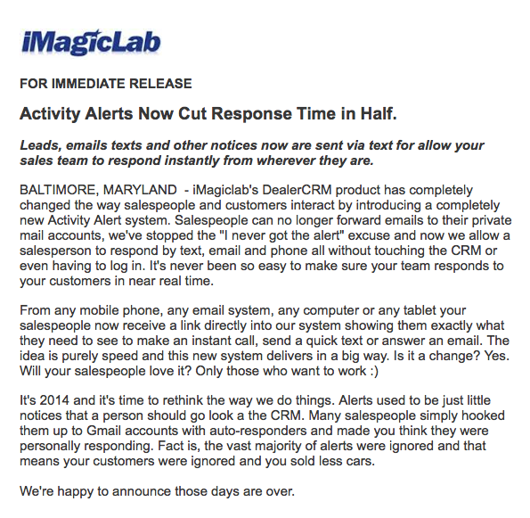 Activity Alerts Now Cut Response Time in Half